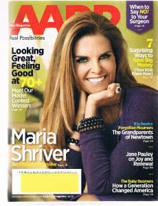 AARP Magazine December 2013- Maria Shriver Cover-Jane Pauley -Baby Boomers-Money