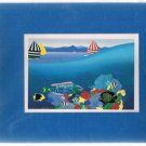 Nigel Bartlett - Tropical Island Matted Print Ready For Framing- Fish