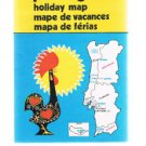 PORTUGAL Holiday Fold-out Map -  No Date - Probably From The 1980's
