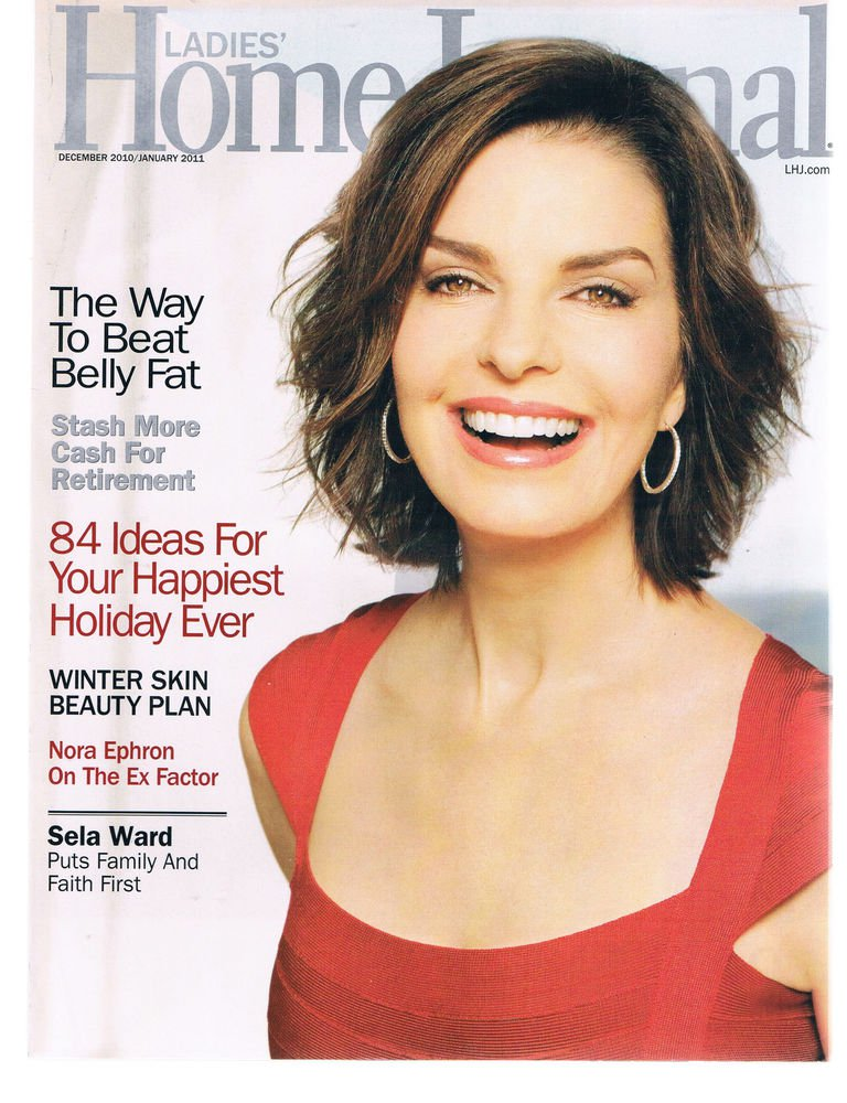 LADIES HOME JOURNAL Magazine December 2010-Sela Ward-Nora Ephron-Retirement Cash