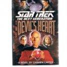 STAR TREK The Next Generation THE DEVIL'S HEART-Carmen Carter HBDJ First Edition