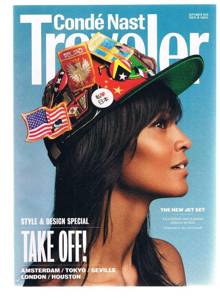 CONDE NAST TRAVELER Magazine September 2014 -Style-Design -Jet Set-Liya Kebede +