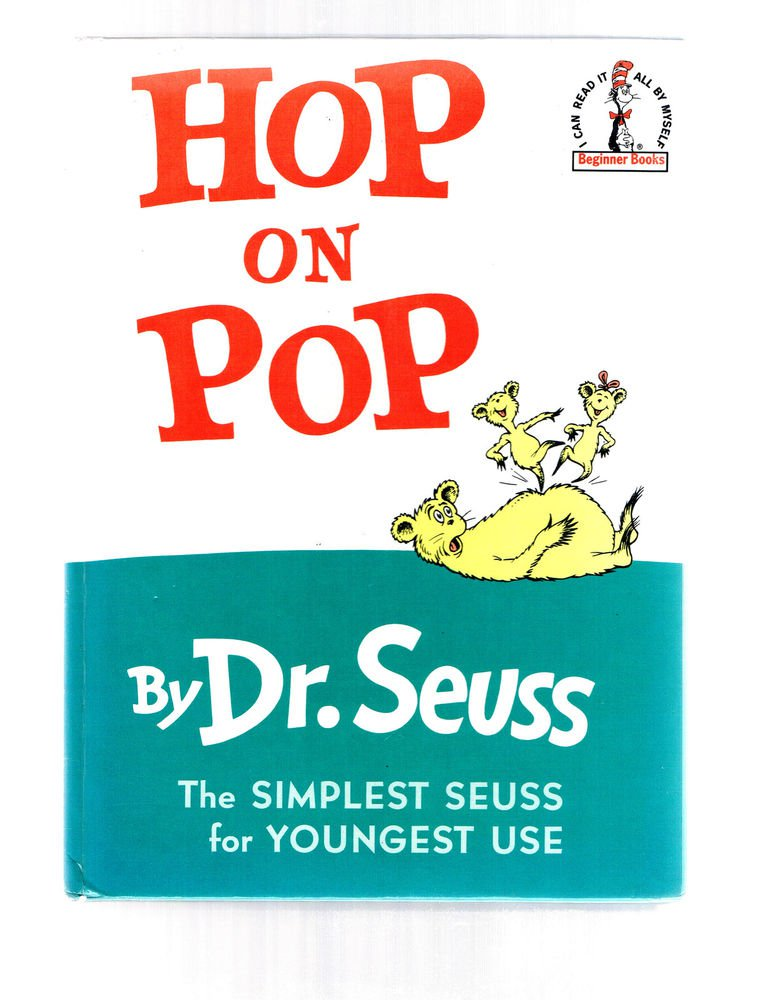 HOP ON POP Simplest Seuss For Youngest Use by Dr Seuss Beginner Books circa 1990