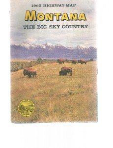 Montana 1965 Highway State Map Bison-Buffalo Cover-Big Sky Country-Rand McNally