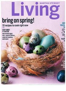 Martha Stewart Living Magazine April 2015 -Easter Eggs-57 Cleaning Secrets-Meals