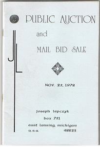 Joseph Lepczyk Public Auction Catalog November 25th1978 -Gold-Coins-Ancient-US +