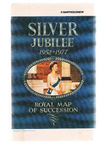 SILVER JUBILEE 1952-1977 Royal Map Of Succession - Queen Elizabeth II
