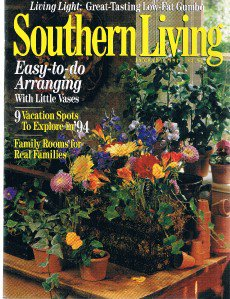 Southern Living Magazine January 1994-Low-Fat Gumbo-Flower Arranging-Family Room