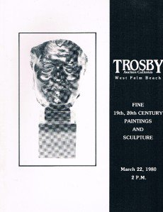 TROSBY Auction Galleries-March 22 1980 catalog 19th-20th Century Paintings - etc