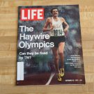 Life Magazine 22 September 1972 -Haywire Olympics-Frank Shorter-George C Scott +