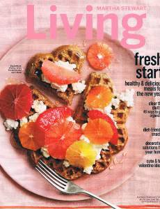 MARTHA STEWART LIVING Magazine January 2014- Valentine Ideas- Healthy Meals-Diet