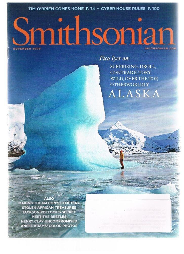 Smithsonian Magazine November 2009-Alaska-Arlington Cemetery-Ansel Adams-Pollock