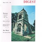 Rosicrucian Digest March 1974 -Mysticism -Music and Plants-Criticism-Aura-Memory