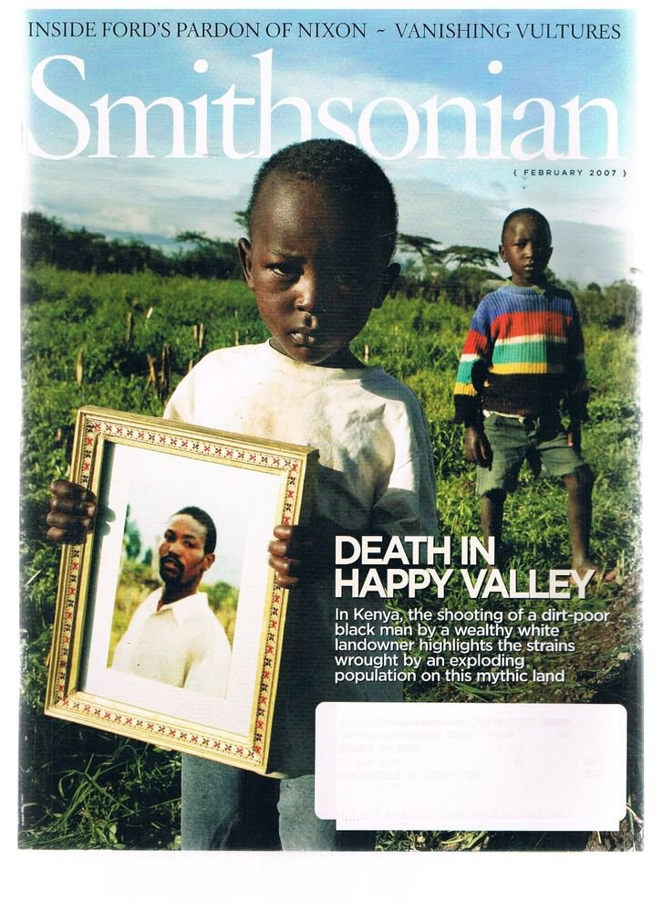 Smithsonian Magazine February 2007 -Kenya -Vultures -Richard Nixon-Gerald Ford +