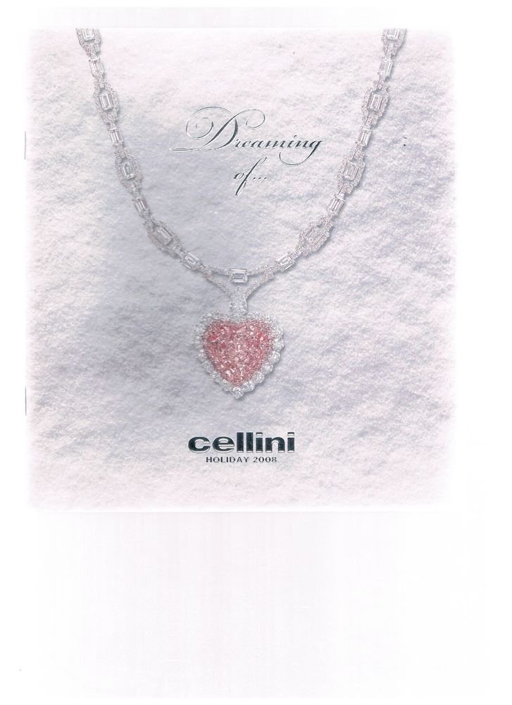 CELLINI  2008 Jewelry Holiday Collection-Booklet-catalog-Faberge-Valcheron-IWC +