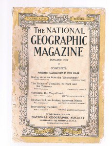 National Geographic Magazine January-1925-Versailles- Airship-Blimp-Chichen Itza