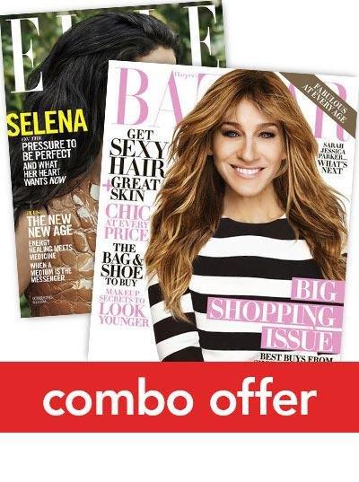 Elle/Harper's BAZAAR Combo Magazine Subscription 1 Year 22 Issues
