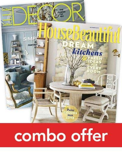 Elle Decor/House Beautiful Combo Magazine Subscription 1 Year 20 Issues