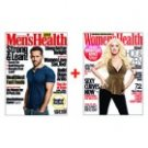 Men's Health and Women's Health Two 1-Year Subscriptions 20 Issues