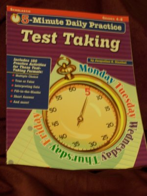 5-Minute Daily Practice Test Taking for Grades 4-8