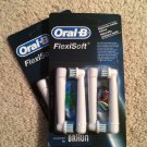 8 Genuine Braun Oral-B FlexiSoft Replacement Toothbrush Brush Heads EB 17 EB17-4