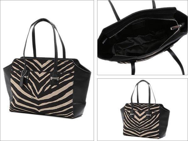 Authentic Genuine Coach Taylor Zebra Handbag (SILVER / BLACK /BLACK) Brand New