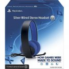 Sony PlayStation Silver Wired Stereo Headset PS4 PS3 - Brand New Sealed