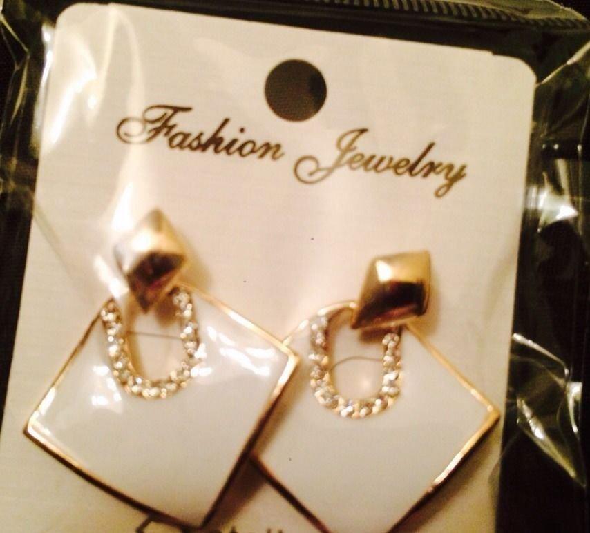 Casual White Earrings