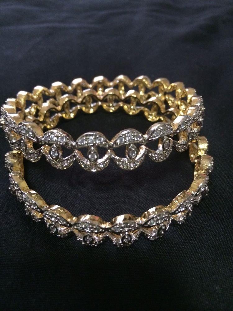Brand New Indian Wedding Diamond Style Bangels Set