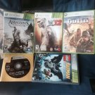 XBox 360 5 Games WWE 12 Lego Batman Assassin Creed III The outfit Gears Of War 2