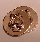 Army Band Insignia pair, gold-plated, mint condition