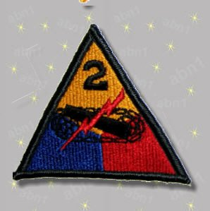 2nd Armored Division Patch mint condition