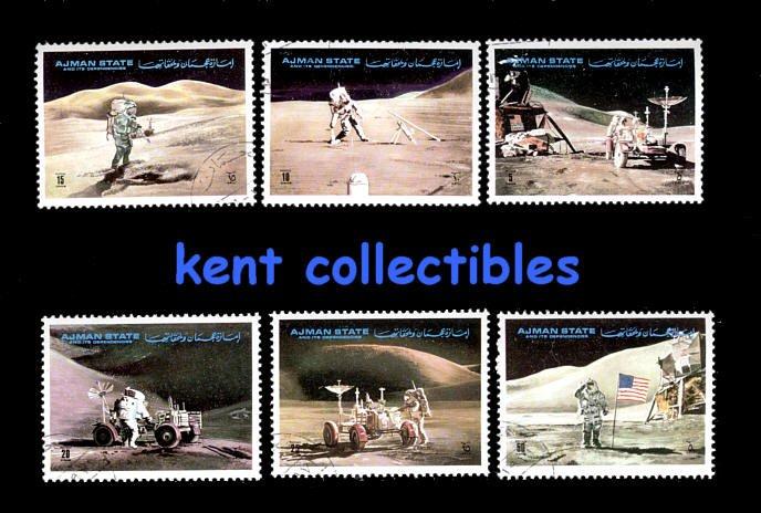 Ajman State, Apollo 11, complete set of 6, canceled