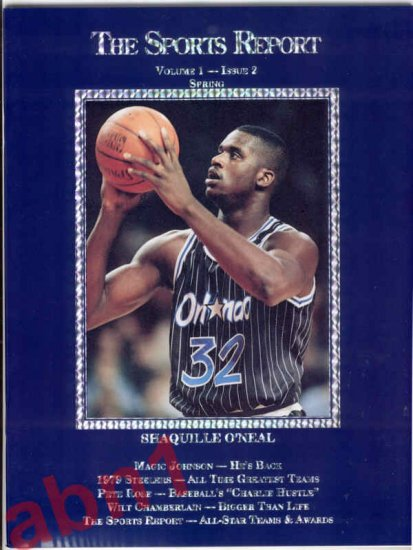 The Sports Report 1992 Issue 2 Shaquille O'Neal cover holofoil variety