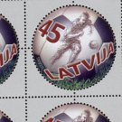Soccer, Latvia 100th Anniversary single stamp, 2007, mnh