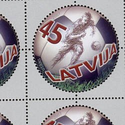 Soccer, Latvia 100th Anniversary single stamp, 2007, mnh #686