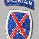 10th Mountain Division Patch with TAB, full color, mint condition