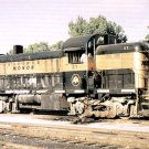 Monon RS2 ALCO switcher, railroad postcard