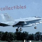 F-18C Hornet military aircraft postcard