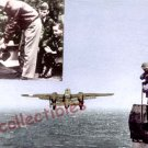 WWII Doolittle & B-25 Bomber, military aircraft postcard