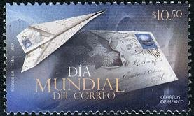 Mexico World-wide Postal Day, new issue set of 1 stamp, mnh