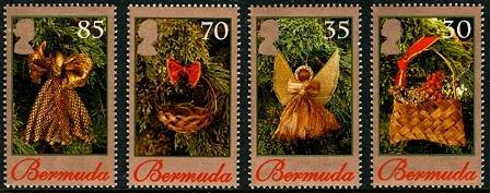 Christmas 2009, Bermuda, set of 4 stamps, mnh