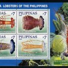 Deep-sea Lobsters, Philippines sheet of 4 stamps, mnh