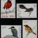 Bush Birds, Norfolk Island 2009 set of 4 stamps, mnh