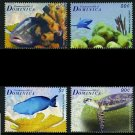 Coral Reefs, Dominica 2009 set of 4 stamps, mnh