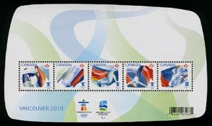 Vancouver 2010 Olympics souvenir sheet, mnh