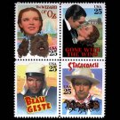 USA Classic Movies setenant block of 4, mnh