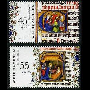 Germany 2009 Christmas, set of 2 stamps, mnh