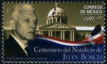 Mexico Juan Bosch 100th Anniversary of Birth, 1 stamp, mnh