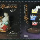 Mexico Day of the Dead, 2009 setenant pair of 2 stamps, mnh
